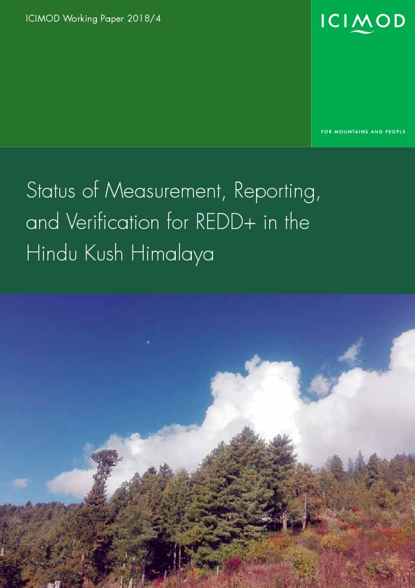 Status of measurement, reporting, and verification for REDD+ in the Hindu Kush Himalaya